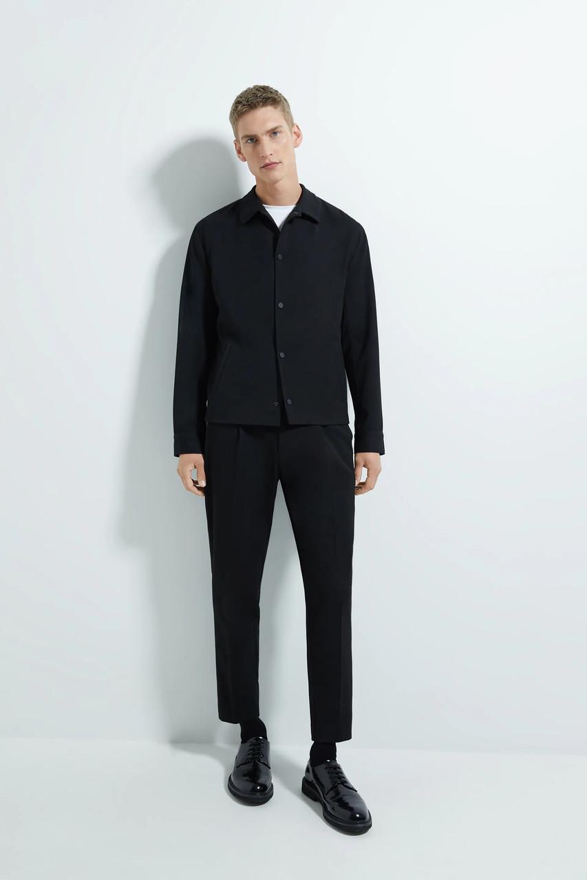 Рубашка мужская Zara черная (1608 316 401)