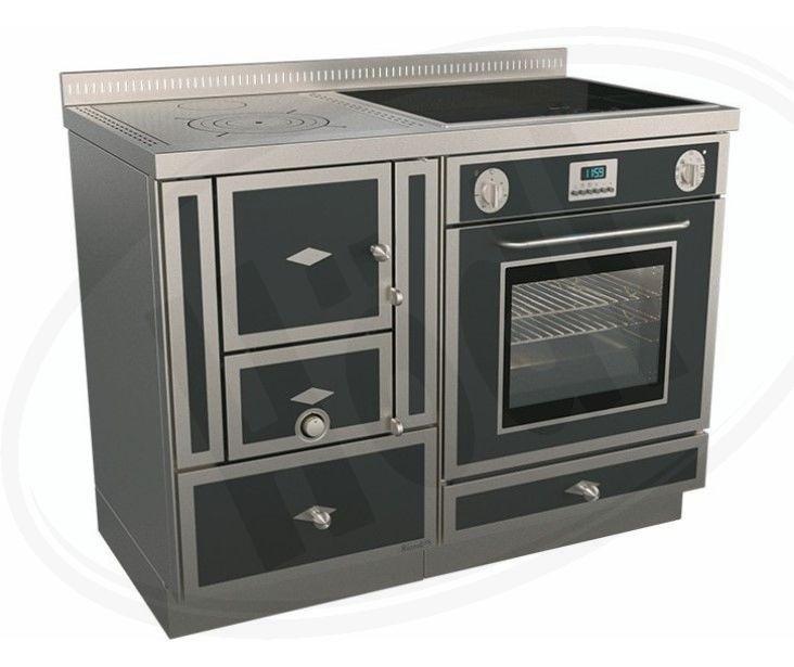 Печка с духовкой на дровах Rizzoli RE 110 combi (плюс газ и электричество)