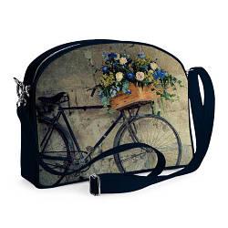 Сумка молодёжная College Велосипед с цветами