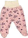 Костюм на дівчинку ріст 56 0-2 міс для новонароджених малюків комплект дитячий велюровий рожевий, фото 3