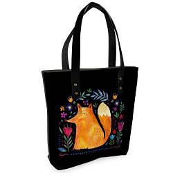 Стильная женская сумка Sophie Лиса и цветы