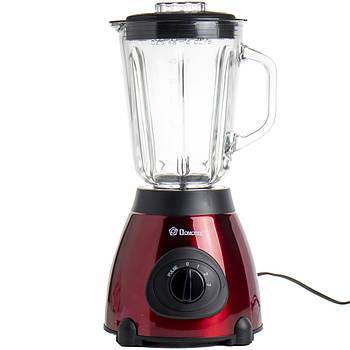 Блендер стационарный с кофемолкой Domotec MS 6611 2в1, красный