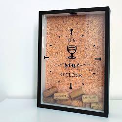 Копилка для винных пробок It`s wine o`clock