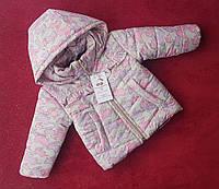 """Демисезонная курточка для маленьких девочек """"Льоля"""" принт зайка 80-98"""