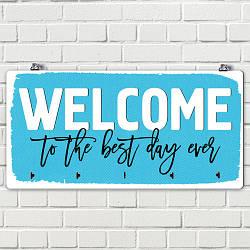 Ключница настенная горизонтальная Welcome to the best day ever
