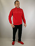 Мужской спортивный костюм красного цвета, фото 4