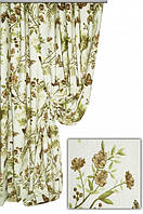 Ткань для штор, скатертей и оббивки мебели в стиле прованс, 70 % хлопок, бабочки в лесу, цвет № 4