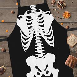 Фартук полноцветный Сolorful Скелет | стильный кухонный фартук с оригинальным принтом для мужчины