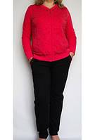 Спортивный костюм женский нарядный с красной  курткой.  Luizza
