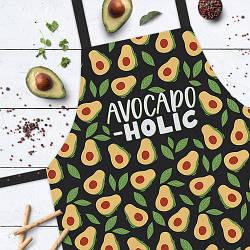 Фартук полноцветный Сolorful Avocado-holic | универсальный кухонный фартук с оригинальным принтом