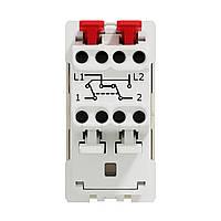 Перемикач 1-клавішний перехресний схема 7, 10А, 1 модуль бежевий