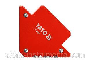 Струбцина магнітна YATO для зварки 82 х 120 х 13 мм 11.5 кг