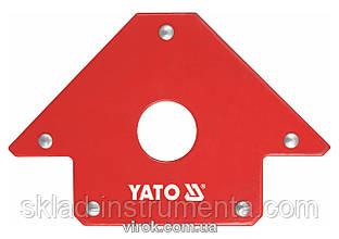 Струбцина магнітна YATO для зварки 102 х 155 х 17 мм 22.5 кг Ø=18 мм