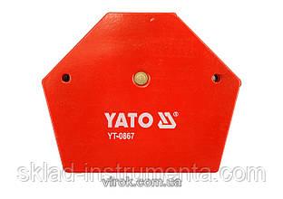 Струбцина магнітна YATO для зварки 111 х 136 х 24 мм 34 кг
