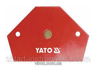 Струбцина магнітна YATO для зварки 64 х 95 х 14 мм 11.5 кг