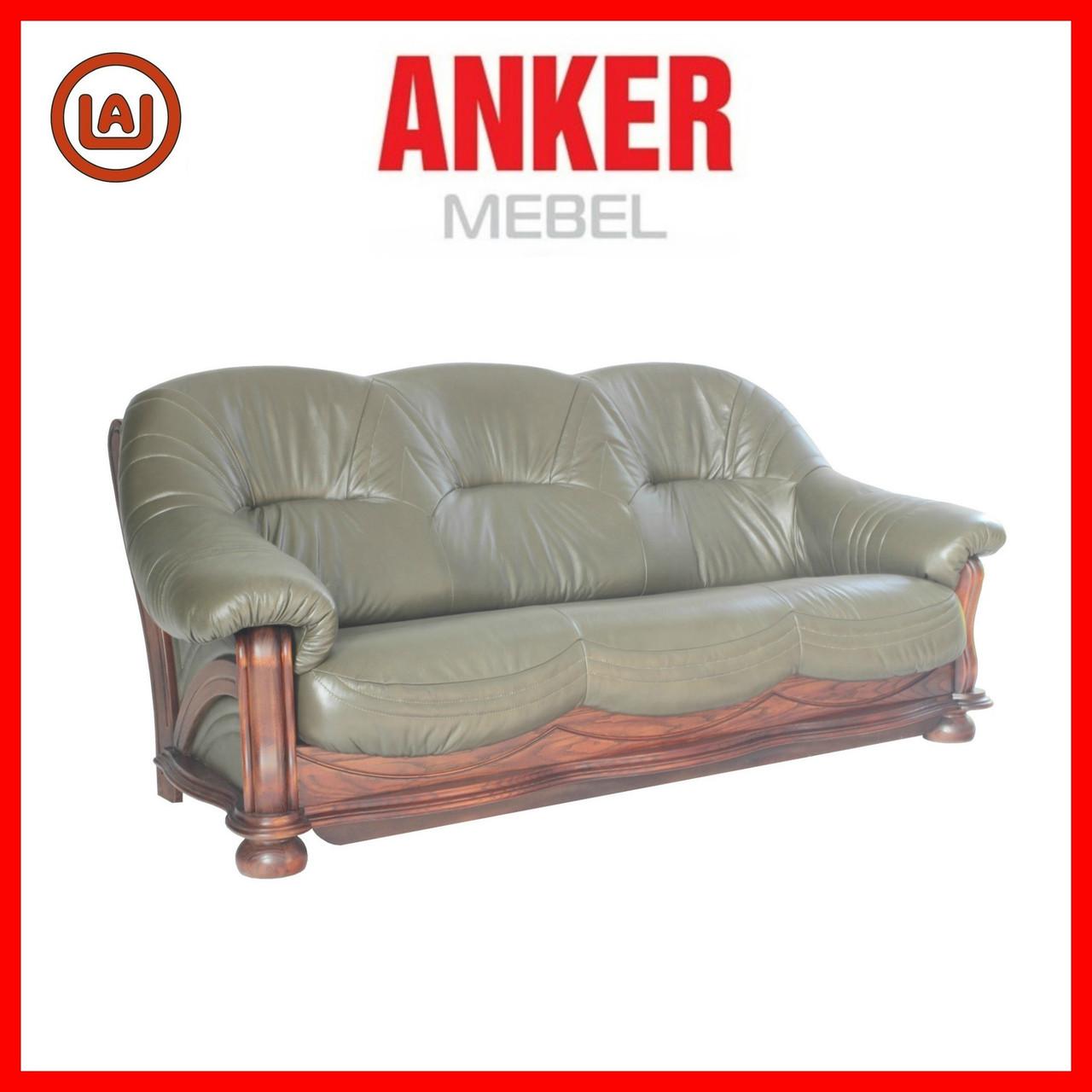 """Кожаный диван с очень удобной посадкой """"Hammer"""", Хаммер"""