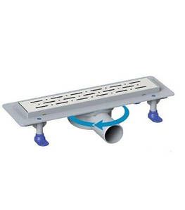 Душевой канал с горизонтальным фланцем MaxiFlow Prime 360 33 см решетка дождь