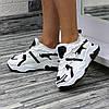 Женские трендовые кроссовки на высокой подошве Белый с черными вставками