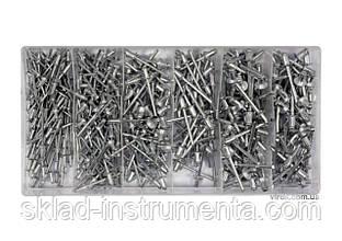 Заклепки алюмінієві YATO Ø=2.4, 3.2, 4, 4.8 мм х 6.4 мм 400 шт