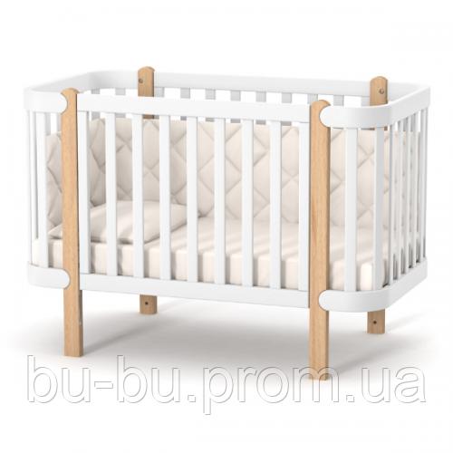 Кроватка Верес Монако (цвет: бело-буковый)
