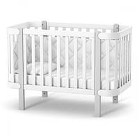 Кроватка Верес Монако (цвет: бело-серый), фото 1