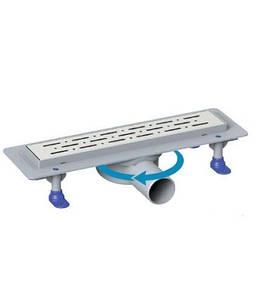 Душевой канал с горизонтальным фланцем MaxiFlow Prime с герм. лентой 360 50 см решетка дождь
