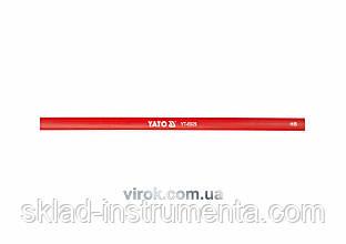 Олівець столярний червоний YATO 245 х 12 мм 144 шт