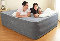 Надувная двуспальная кровать Intex 64418 (152-203-56 см) + встроенный электронасос 220V