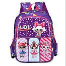 Детский рюкзак кукла LOL дошкольный для девочки в садик 3-5 лет, фото 6