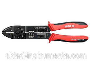 Кліщі для зачистки від ізоляції провідників Ø= 1.5 - 6.0 мм YATO, l= 240 мм