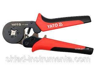 Кліщі для обжиму та зачистки проводів YATO, l=180мм [6/36]