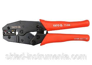 Кліщі для обжиму та зачистки проводів YATO, l=220 мм