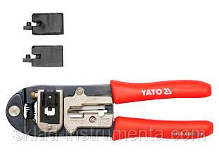 Кліщі для обтискання и зачистки проводів YATO, l= 195 мм