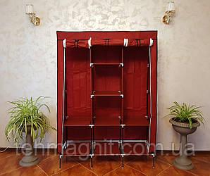 Складаний тканинний шафа для одягу на 3 секції