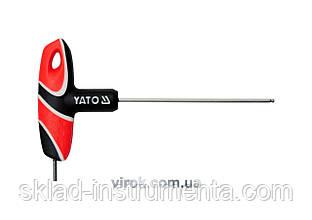 Ключ шестигранний Т-подібний з кулькою YATO HEX 2.5 х 100 мм