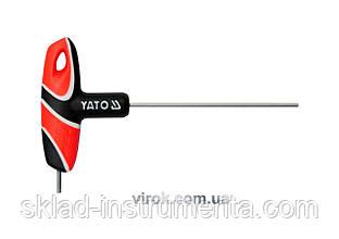 Ключ шестигранний Т-подібний YATO HEX 2.5 x 100 мм