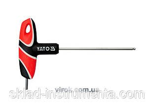Ключ шестигранний Т-подібний з кулькою YATO HEX 3 х 100 мм