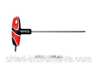 Ключ шестигранний Т-подібний з кулькою YATO HEX 4 х 140 мм
