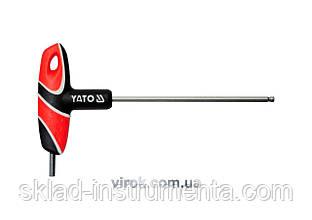 Ключ шестигранний Т-подібний з кулькою YATO HEX 5 х 140 мм