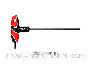 Ключ шестигранний Т-подібний з кулькою YATO HEX 7 х 170 мм