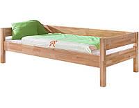 Односпальне ліжко B020 90x200 дерев'яні з бука ТМ Mobler