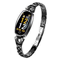 Умные часы фитнес браслет Finow H8 с тонометром (Черный)