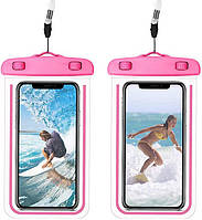 Водонепроникний чохол для смартфона Aqualight світиться рожевий
