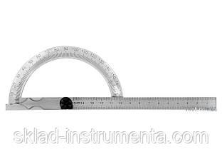 Кутомір-транспортир з лінійкою YATO 120 х 150 мм