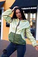 Двостороння куртка на блискавці в стилі колор блок з 48 по 66 розмір, фото 4