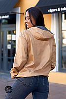 Двостороння куртка на блискавці в стилі колор блок з 48 по 66 розмір, фото 5