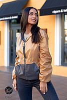 Двостороння куртка на блискавці в стилі колор блок з 48 по 66 розмір, фото 8