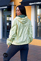 Двостороння куртка на блискавці в стилі колор блок з 48 по 66 розмір, фото 6