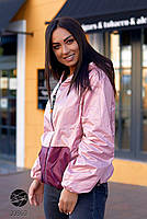 Двостороння куртка на блискавці в стилі колор блок з 48 по 66 розмір, фото 7