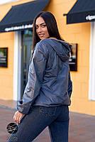 Двостороння куртка на блискавці в стилі колор блок з 48 по 66 розмір, фото 9